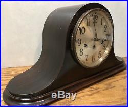 German Junghans Carol Westminster Chime Deco Mantle Table Clock