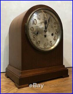 German Junghans Tombstone Beehive Westminster Chime Mantel Bracket Clock