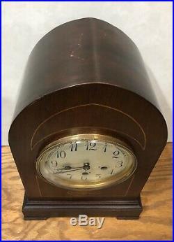 German Junghans Westminster Chime Mantel Bracket Table Shelf Clock