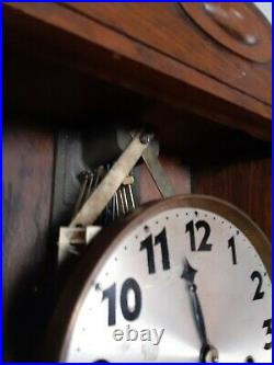 German Junghans Westminster Chime Wall Box Clock Working Video Added