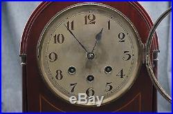 German MANTLE CLOCK Westminster Chimes Quarter Hour WORKS