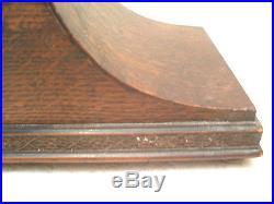 German Napoleon Hat Shape Oak Westminster Chimes Clock GWO 9H 16.5W 6D