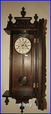German Quarter Hour Westminster Chime Wall Regulator Clock 8-Day