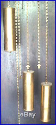 German Urgos Oak 3 Weights Driven Westminster Chimes Grandfather Clock GWO
