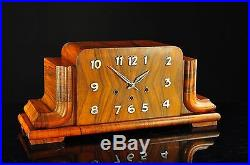 Gorgeous German Art Deco Westminster Chime Desk Clock approx. 1930