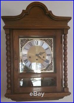 Gorgeous & Rare Concerto Westminster Chime Wall Clock with Hermle 351-021 Movement
