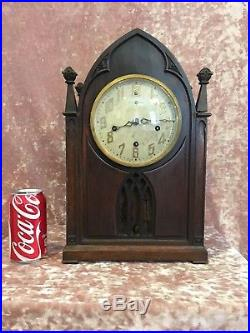 Gothic New Haven Cloister Westminster Chime Cathedral Mantle Table Shelf Clock