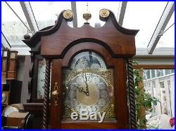 Grandfather Clock In Lovely Wood Case