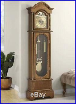 Grandfather Clock Large Antique Style Wood Grand Father Clocks Classic Chimes