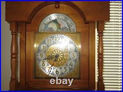 Grandfather Clock Walnut Handmade Local Craftsman Westminster chimes 1980