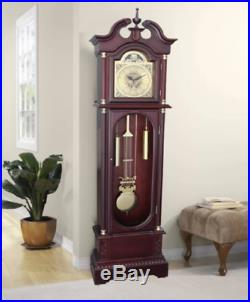 Grandfather Clock Wood Antique 72 Floor Standing Vintage Chime Traditional Big