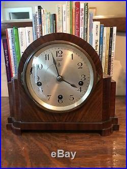 Gustav Becker Antique Miniature Mantel Clock-Westminster Chimes-Excellent