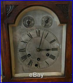 Gustav Becker Oak Mantle Clock with Westminster Chime Spares + Repairs