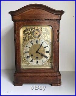 Gustav Becker Westminster Chimes Bracket Clock 44cm Heigh