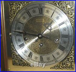 HAMILTON LANCASTER PA U. S. A WESTMINSTER CHIME 8 DAY BRACKET CLOCK WORKING With KEY