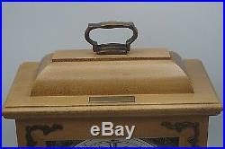 HAMILTON WESTMINSTER CHIME BRACKET MANTLE CLOCK WithKEY- 340-020 W. GERMANY NM