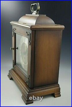 HAMILTON WESTMINSTER CHIME BRACKET MANTLE CLOCK WithKEY 71 340-020 W. GERMANY NM