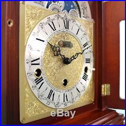 HERMLE CLOCK TRIPLE CHIME Mantel MOONPHASE Germany Westminster Vintage SERVICED