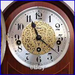 HERMLE Mantel Clock HIGH GLOSS! Germany Westminster Chime Shelf Late Mid Century