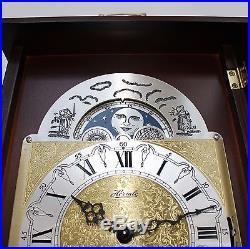HERMLE Mantel Clock MOONPHASE! German Westminster 3 MELODIES Chime Vintage Shelf