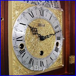 HERMLE Mantel Clock MOONPHASE! German Westminster 3 MELODIES Chime Vintage Shelf