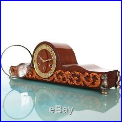 HERMLE Mantel Clock + Sidepieces! WESTMINSTER Chime GLOSS! BRONZE Vintage German