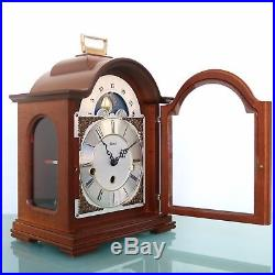 HERMLE Mantel Clock WESTMINSTER Chime Vintage Moonphase Chime Germany 3 Crystals