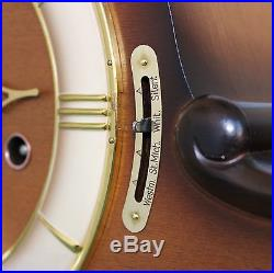 HERMLE Mantel TOP! Clock TRIPLE CHIME Westminster HIGH GLOSS Germany Mid Century