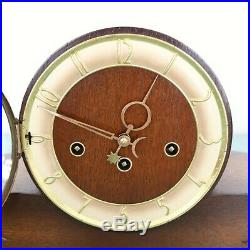 HERMLE Mantel TOP! Clock WESTMINSTER Chime! XXL BRONZE Features! Vintage Germany