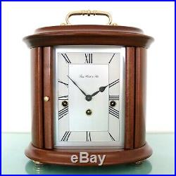 HERMLE OVAL DESIGN Mantel TOP Clock WESTMINSTER Chime HIGH GLOSS German SERVICED