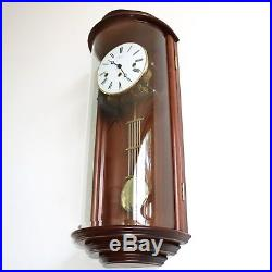 HERMLE WALL CLOCK TOP DESIGN WESTMINSTER Chime CURVED Glass Skeleton TRANSLUCENT