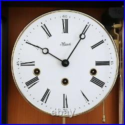 HERMLE WALL CLOCK TOP DESIGN WESTMINSTER Chime HIGH GLOSS! Skeleton TRANSLUCENT