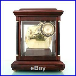 HERMLE Westminster 4 BELLS Mantel TOP! Clock German Translucent High Gloss Chime