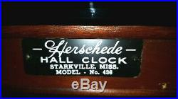 HERSCHEDE GRANDMOTHER CLOCK With WESTMINSTER CHIMES, MODEL 436 C-1960s