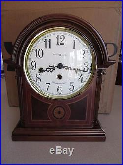 Howard Miller Barrister Mantel Clock 8 Day Key Wind Westminster Chime