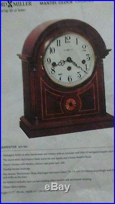 Howard Miller Barrister Mantle Clock 8 Day Key Wound Hermle Westminster Chime