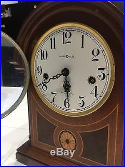HOWARD MILLER Barrister Westminster Chime Key Wind Mantle Clock