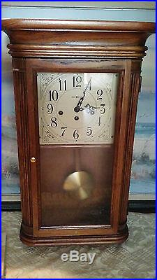 Howard Miller Westminster Chime Wall Clock 613-108 On The Quarter Chimes