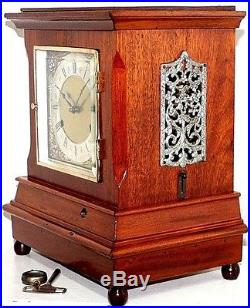 Huge Antique Running New Haven Chime No. 3 Westminster 5 Gong Bracket Clock