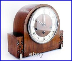 Haller Art Deco style Westminster Chiming Mantel Clock/Working Free Shipping