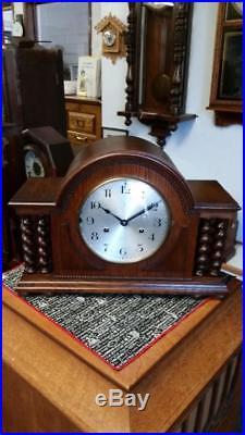 Hamburg-American (HAC) 3/4 Westminster Chime Oak Mantle Clock