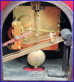 Hamburg American HAU Westminster Chime Mantel Clock Vintage For Repair