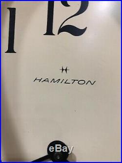 Hamilton Drop Octagon School House Westminster Chime German Hermle Wall Clock