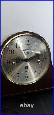 Hamilton Greenfield Manor Windup Mantle Clock With Westminster Chime