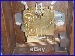 Hamilton Mantel Clock 8 Day Key Wound Westminster Chime Wheatland Model NICE