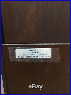 Hamilton Oakdale Westminster Chime Drop Octagon Schoolhouse German Wall Clock
