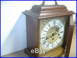 Hamilton Westminster 1/4 Hour Chime Mantle Mantel Clock #340-020 8 Day Works