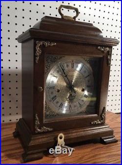Hamilton Westminster Chime Bracket German Movement Mantle Table Shelf Clock