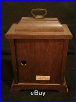 Hamilton Wheatland 8-Day Westminster Chime Solid Wood Mantel Clock Excellent Con