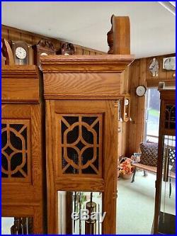 Hermle 41376 Solid OAK Grandfather Clock German Triple Chime Floor 85.5 Tall